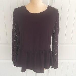 Ann Taylor LOFT NWT swoop neck blouse size SP